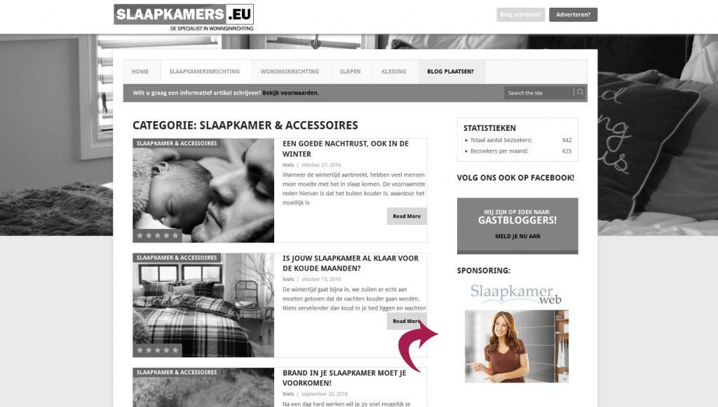 Adverteren slaapkamers.eu